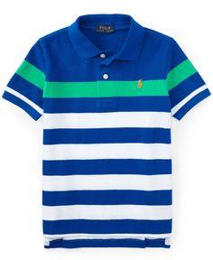 Ralph Lauren Little Boys  Striped Polo Shirt Kids - Shirts   Tees - Macy s 526ed976b60fd