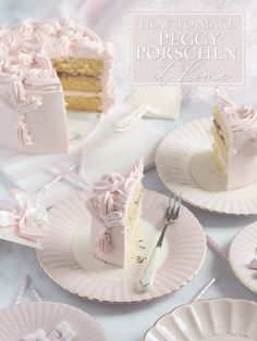 How To Make A Peggy Porschen At Home: Glorious Victoria Cake Recipe - Love Catherine Pink Treats, Sweet Treats, Peggy Porschen Cakes, Victoria Cakes, Recipe Drawing, Buttercream Filling, Frosting, London Cake, Pink Food Coloring