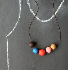 not Tuesday. #handmade #wood #necklace #earrings #modern #fun #style