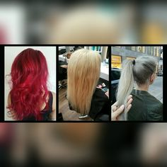 #before #after #granny #hair #hairstyle #red #fromredtogranny #silver #longhair