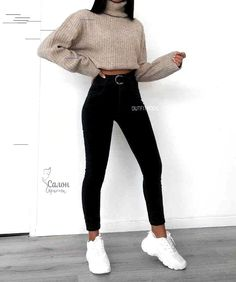 Teenager Outfits, Outfits For Teens, Easy School Outfits, Winter School Outfits, Fashion Mode, Look Fashion, Latest Fashion, Girl Fashion, Friends Fashion