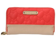 [Betsey Johnson Be My One and Only Zip Around Wallet]