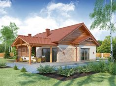 Zdjęcie projektu Lena PS WRW1206 Indian Homes, Exterior Paint Colors, Home Fashion, Bungalow, Decoration, My House, Beautiful Homes, House Plans, Sweet Home