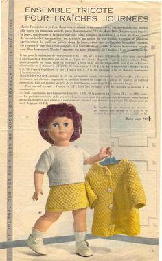 PAR AMOUR DES POUPEES :: M&T 1966-08 pull et jupe pour Marie-Françoise (tricot)
