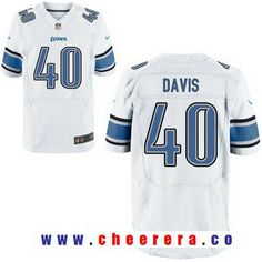 08c4cce6c Men s 2017 NFL Draft Detroit Lions  40 Jarrad Davis White Road Stitched NFL  Nike Elite