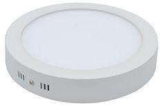 Falon kívüli 18 wattos led panel, meleg fehér, kör alakú (2236)
