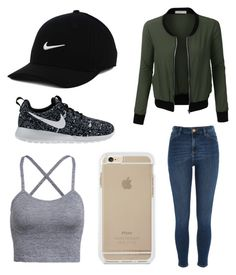 """""""Untitled #4"""" by mburnside on Polyvore featuring LE3NO, NIKE and River Island"""