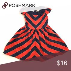 Gymboree Navy and Red Dress Size 6 Darling striped dress from Gymboree. Navy bow at the collar. 100% cotton.  Good pre-loved condition.   Host Pick Everything Kids Party 7/24!!! Gymboree Dresses