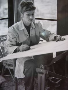 Mary Blair in her studio.