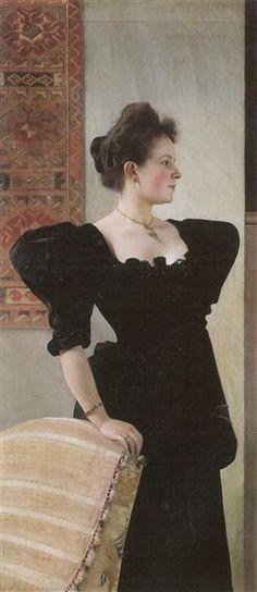 Portrait of Marie Breunig, 1894 - Gustav Klimt
