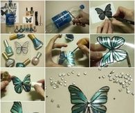 Upcycled Plastic Bottle Butterflies