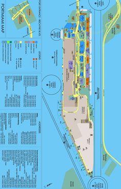 Miami (Florida) cruise port map (printable)