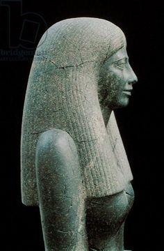 Statue of Lady Sennuwy, probably for Tomb of Djefaihapu, Asyut, Egypt, found in Royal Tumulus KIII, Kerma, Nubia, Sudan, Middle Kingdom, reign of Senwosret I, 1971-26 BC (grandiorite)