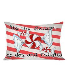 Another great find on #zulily! 'Season of Joy and Delight' Throw Pillow #zulilyfinds