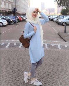 Michael saved to KochenCute hijab outfits in light blue color – Just Tr. Modest Fashion Hijab, Modern Hijab Fashion, Muslim Women Fashion, Street Hijab Fashion, Casual Hijab Outfit, Hijab Fashion Inspiration, Mode Inspiration, Islamic Fashion, Hijab Chic