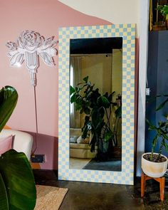 I got this big mirror on Facebook Marketplace, but it was a little stained and outdated so I thought I could give it an upgrade. I have been loving this tile trend that has been surfing around TikTok so I wanted to give my own spin on it. The Sorry Girls, 50s Diner, Girls Mirror, Mirror Tiles, Oversized Mirror, Give It To Me, House, Furniture, Home Decor