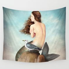 the soul is full of longing Wall Tapestry. #collage #digital #photomontage #christian-schloe