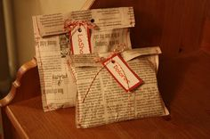 gift wrapping, newspap gift