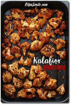 Kalafior pieczony Pork Recipes, Vegetarian Recipes, Cooking Recipes, Healthy Recipes, Healthy Cooking, Healthy Eating, Healthy Food, Goody Recipe, Eat Happy