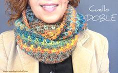 ¿Has querido hacer alguna vez una bufanda o cuello de crochet y no te has atrevido? Ya no tienes excusa. Este sencillo cuello con un punto apto para principiantes tiene un diseño casual muy cómodo y es tan alegre que sienta de maravilla. If you have always wanted to make a crochet scarf or cowl and do not have the confidence, now you have no excuse . This cowl is very easy to make, it is confortab ... Crochet Granny, Diy Crochet, Crochet Shawl, Crochet Stitches, Crochet Patterns, Crochet Scarves, Crochet Clothes, Crochet Humor, Crochet Winter
