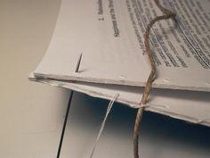 Binding Single Sheets (Whip Stitching): Step 2