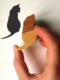 Wooden Handled Thinking Cat Rubber Stamp by jolyonyates on Etsy, $16.95