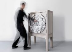 """This """"Safe Cabinet"""" was designed with the lock mechanism on the exterior"""