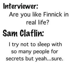 Sam Claflin/Finnick Catching Fire