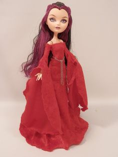 Red Velvet Medieval Gown Designed for Your Ever by iddybiddyspider, $12.00