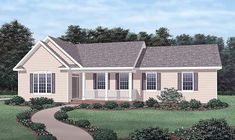 Country Style House Plans - 1686 Square Foot Home , 1 Story, 3 Bedroom and 2 Bath, 2 Garage Stalls by Monster House Plans - Plan Luxury Floor Plans, Home Design Floor Plans, House Floor Plans, Compact House, Monster House Plans, Country Style House Plans, Traditional House Plans, Cottage Plan, Ranch House Plans
