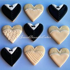 Bride and groom heart cookies #weddingcookies #icedsugarcookies #cookiefavors #weddingfavors #bridalshower