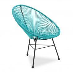 Silla Acapulco, un clásico versionado por VOGA #silla #Acapulco #turquesa #azul #diseño #moderno #decoración #interiores #hogar