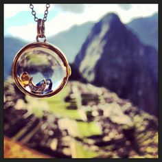 My @Julien Floquet today in Machu Pichu. Diamond for the Inca Moon God, Citrine for the God and Sapphire for rain.