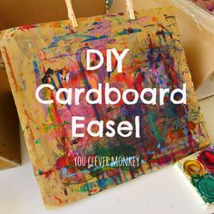DIY Cardboard Tabletop Easel | youclevermonkey