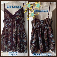 Liz Lange Maternity L Fabulous Adjustable Tank Bust 20 L 28 stretch body 100% polyester lace 92% nylon 8% spandex Tops