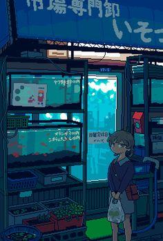 Pixel Art Gif, Cool Pixel Art, Piskel Art, Pix Art, Gifs, Aesthetic Art, Aesthetic Anime, Pixel Art Background, 8 Bit Art