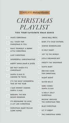 Christmas Playlist🎄🎵 - Marguerite Home Popular Christmas Songs, Xmas Songs, Christmas Playlist, Christmas Movies List, Christmas Food List, Best Christmas Music, Christmas Checklist, Holiday Movie, Christmas Jingles