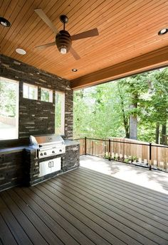 outdoor deck with barbeque grill at Mystic Ridge street fo dreams 2012 Farnsworth Home Design