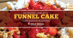An Inside Look At A Funnel Cake Concession Business Funnel Cakes . Concession Food, Funnel Cakes, Recipe For Success, Cake Business, Yummy Treats, Fries, Good Food, Tasty, Snacks