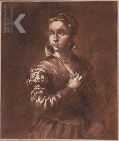 Jan de Bisschop Jonge vrouw ten halven lijve Christie's (Paris) 2004-12-15, nr. 279 ~ drawing