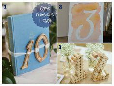 Le creazioni di Marzia: Idee per numerare i tavoli per un matrimonio #wedding #matrimonio #table #tavoli #numeri #numerare #diy #idea #tutorial