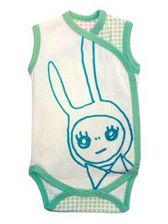 Love the mixed fabrics.    http://www.mijnwebwinkel.nl/winkel/margoslingerland/a-25695909/babywear/sweethearts-and-bows-babysuit-lucky-rabbit