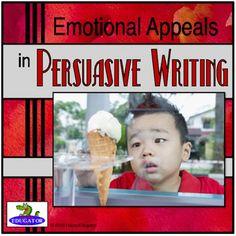 Persuasive Writing Emotional Appeals PowerPoint by HappyEdugator   Teachers Pay Teachers