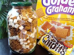 S'mores Snack Mix - for when you're not near a campfire! Road Trip Snacks, Road Trips, Road Trip Meals, Car Snacks, Travel Snacks, Scout Camping, Cheap Snack Ideas, Cheap Party Food, Lunch Ideas