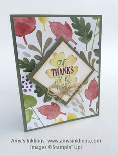 For All Things, Stampin' Up!, Amy Whelan