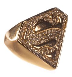 Chelsea Doll Gold Plated And Diamante Superman Logo Ring from This Gold Plated Superman ring from Chelsea Doll puts the POW in Super Power! If you like to add a slice of retro kitsch to your outfit, then this nostalgic filled ring is for you! Each ring features  http://www.comparestoreprices.co.uk/t-shirts/chelsea-doll-gold-plated-and-diamante-superman-logo-ring-from.asp