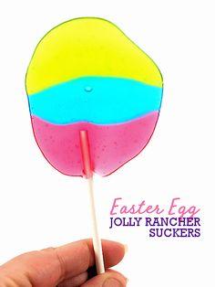 Easter Egg Jolly Rancher Suckers #easter #kids