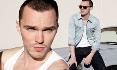 Hollywood's rising hunk: Nicholas Hoult reveals his muscular chest in a white vest as he portrays his edgy side for new Flaunt fashion shoot