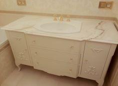 szafka pod umywalkę stojąca, kuchnie angielskie, meble stylowe na wymiar, french style bathroom vanity - wykonanie Artystyczna Manufaktura