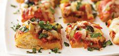 Sandra Lee Party Pizza Squares- Party Pizza Squares
